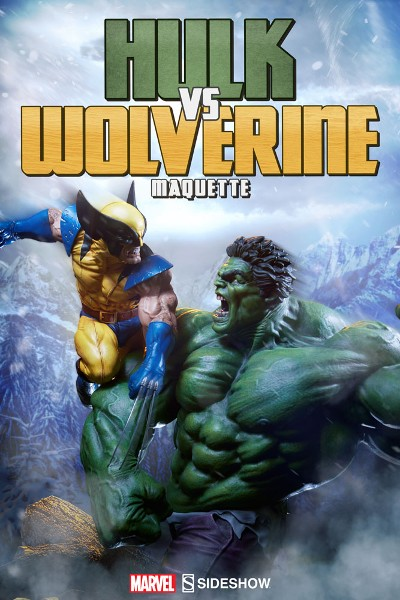 Sideshow Collectibles Marvel Hulk vs Wolverine Maquette