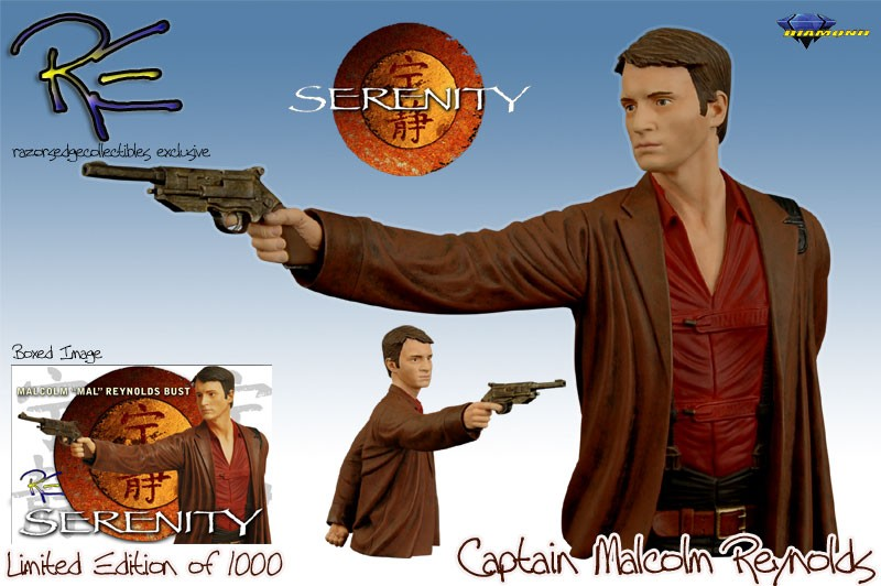 Serenity Captain Malcolm Reynolds Mini Bust Artist's Proof