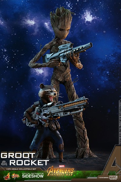 Preorder Hot Toys Marvel Avengers Infinity War Rocket and Groot