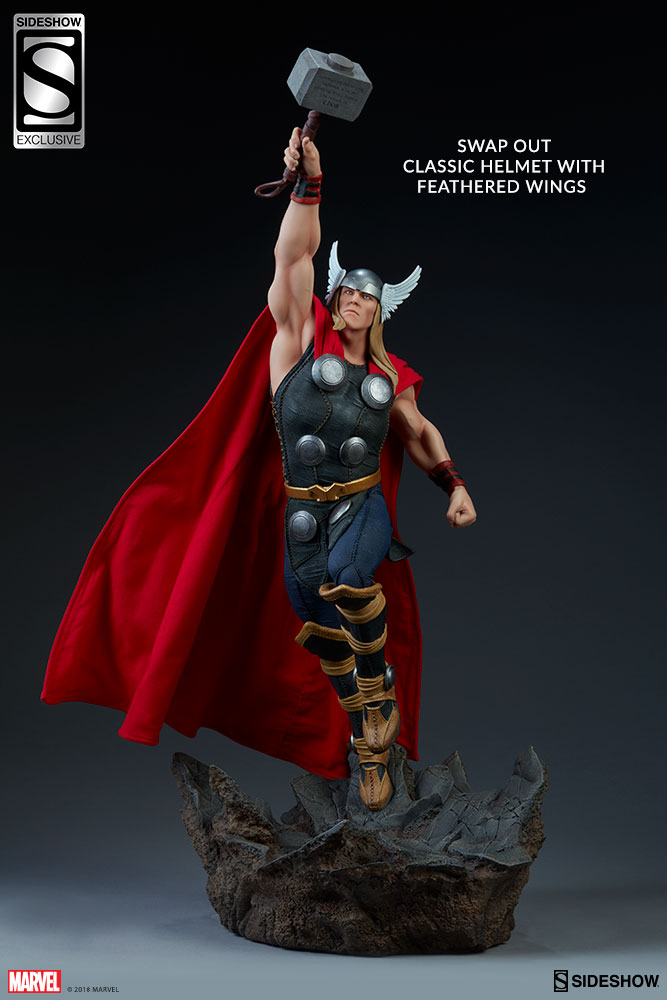 Sideshow Marvel Avengers Assemble Thor Exclusive Statue