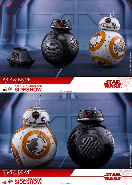 Preorder Hot Toys Star Wars Last Jedi BB-8 and BB-9E Figure Set