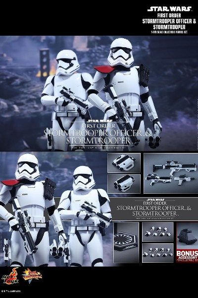 Hot Toys Star Wars First Order Stormtrooper Officer Figure Set
