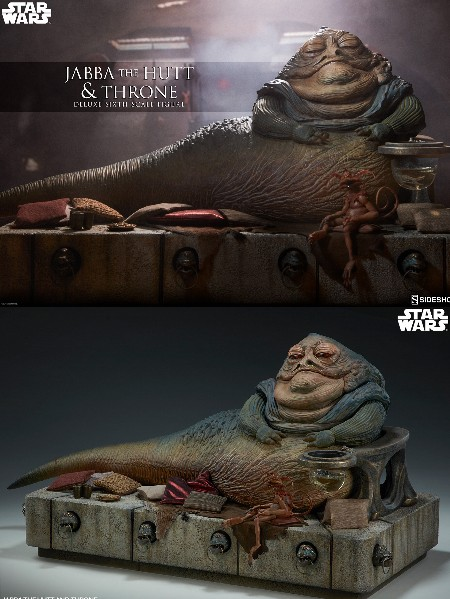 Preorder Sideshow Star Wars Jabba the Hutt and Throne Deluxe Set