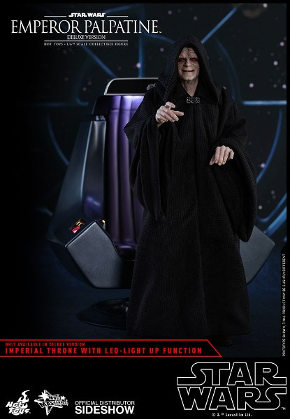Preorder Hot Toys Star Wars Emperor Palpatine Deluxe Figure