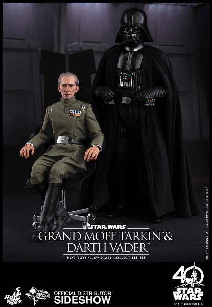 Preorder Hot Toys Star Wars Grand Moff Tarkin & Darth Vader Set